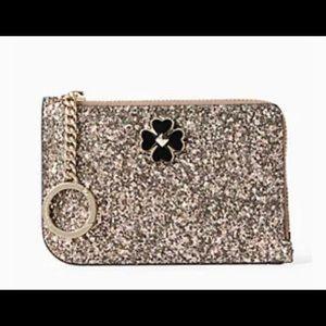 Kate spade odette glitter med-L card holder